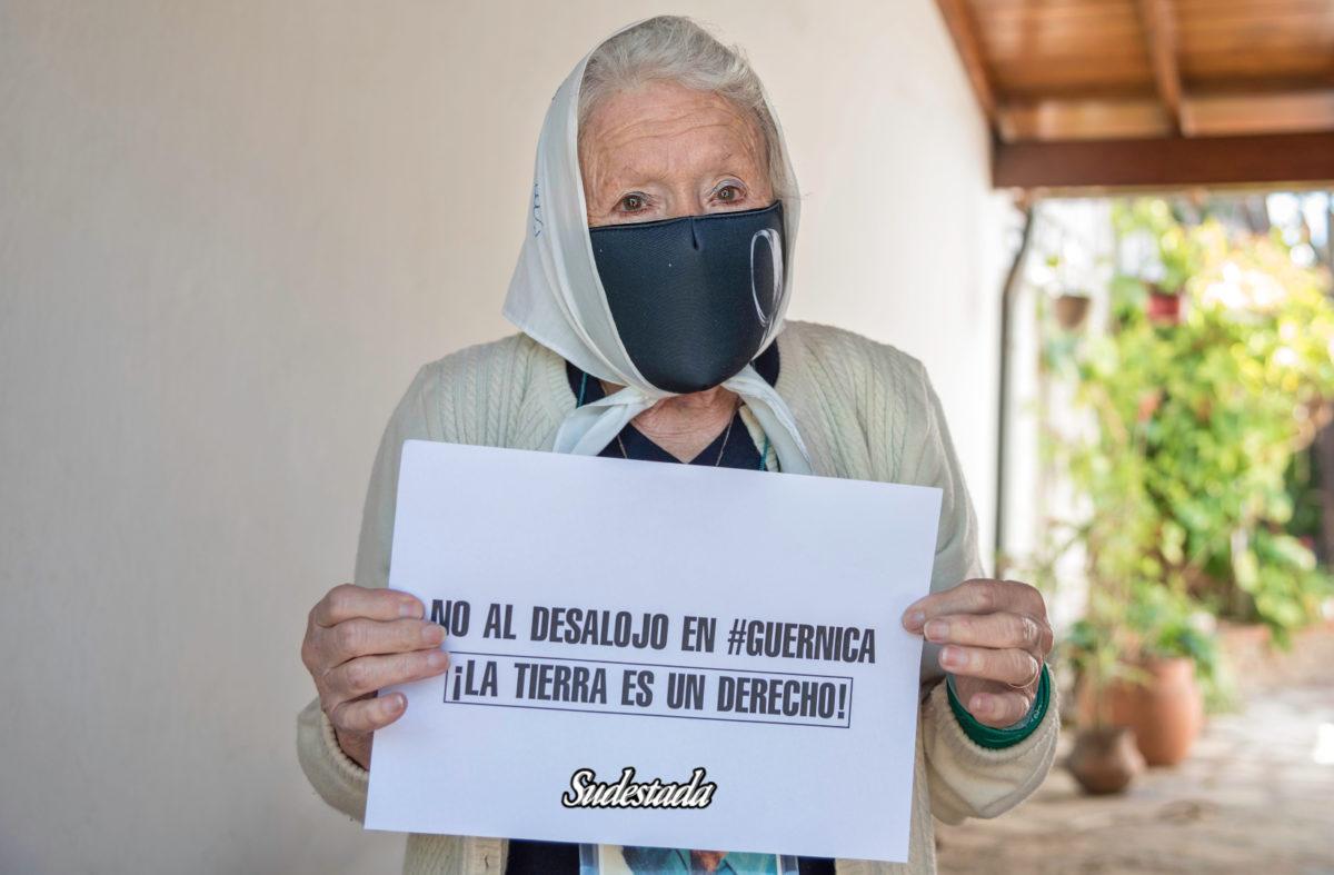 """Norita Cortiñas: """"Antes de hacer desalojos, solucionen el problema de la vivienda"""""""