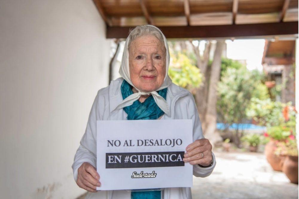 """Norita Cortiñas: """"El desalojo es una violación al derecho del pueblo a tener su techo"""""""
