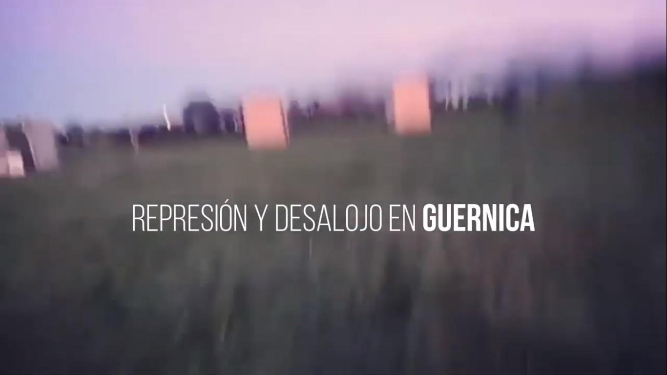 Guernica: Desalojo y represión