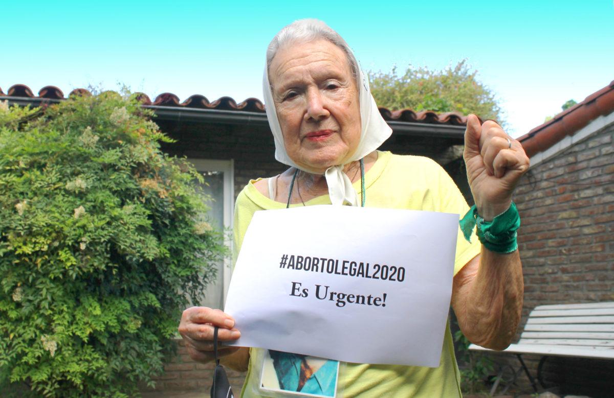 """Norita Cortiñas: """"Que ya no muera ninguna mujer por necesidad de hacerse un aborto"""""""