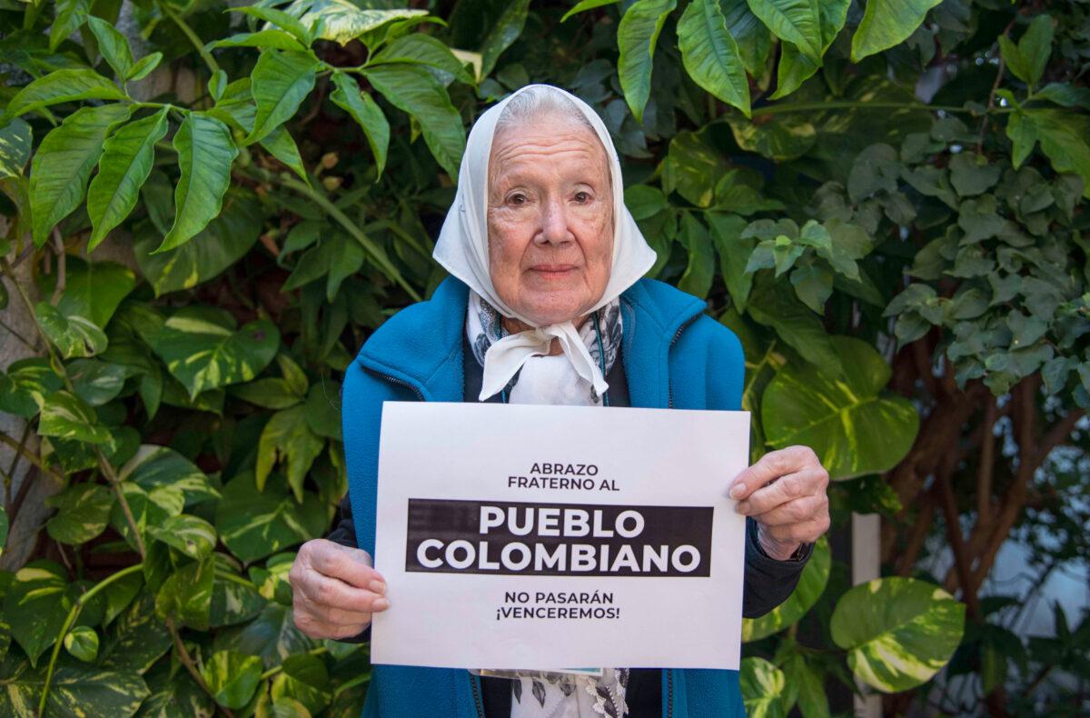 """Norita Cortiñas: """"Colombia se puso de pie"""""""