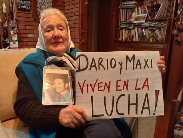 """Norita Cortiñas: """"Están presentes siempre, Darío y Maxi"""""""