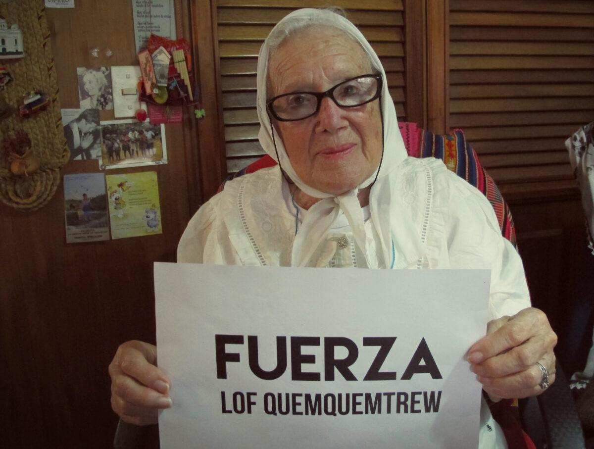 """Norita Cortiñas: """"Siguen reprimiendo a las comunidades"""""""